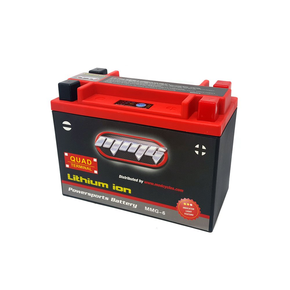 MMG Lithium Ion Sealed Battery 12V 420 LCA Quad Terminal, Compatible with YTX20L-BS, YTX20H-BS, YTX20HL-BS, YTX24HL-BS, and YB16CL-B (MMG6) by MMG