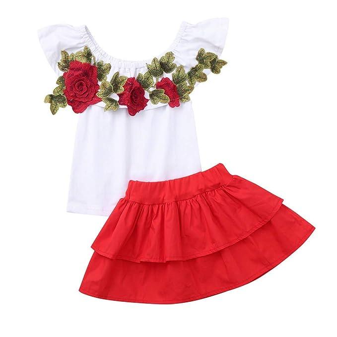 Berimaterry Conjunto de Falda de Chaleco para niñas, Vestido ...