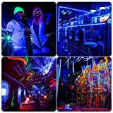 9 LED Black Light, Gohyo 27W LED UV Bar Glow in the Dark Party Supplies for Christmas Blacklight Party Birthday Wedding Stage Lighting, Material Metal Iron