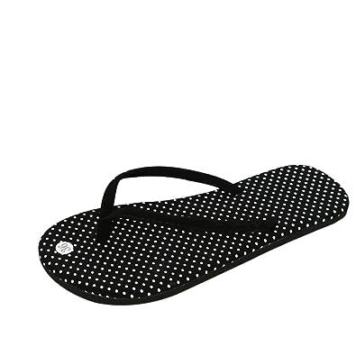 7b696f28b1ba Women Flip Flops Slippers Daoroka Summer Light Weight Flat Polka Dot Sandals  Casual Soft Cute Beach