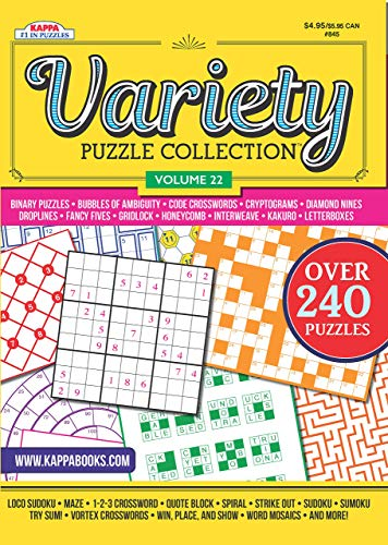 Variety Puzzles and Games Puzzle Book-Volume 22 Perfect Paperback – August 15, 2017