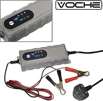 Voche 6v 12v 4 0a Ultra Fast Automotive Smart Intelligent Microprocessor Motor Bike Car Battery Charger Amazon Co Uk Car Motorbike