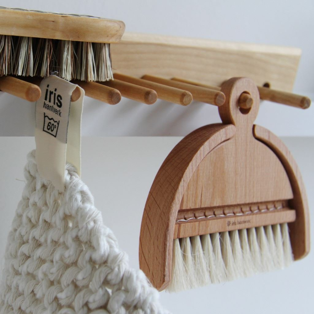 Iris Hantverk Birch Wood Wall Rack with 7 Hooks