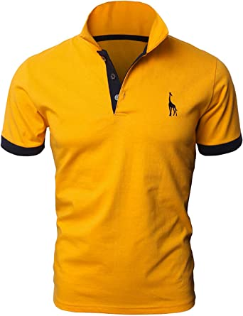 YIPIN Hombre Polo de Manga Corta Bordado de Ciervo Deporte Golf Camisa Poloshirt Negocios Camiseta de Tennis Verano T-Shirt: Amazon.es: Ropa y accesorios