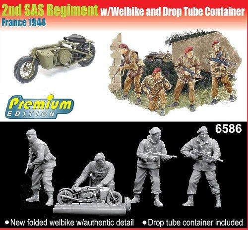 プラッツ 1/35 第2SAS連隊w/ウェルバイク&運搬コンテナ プラモデル CH6586 B002QN1GDE