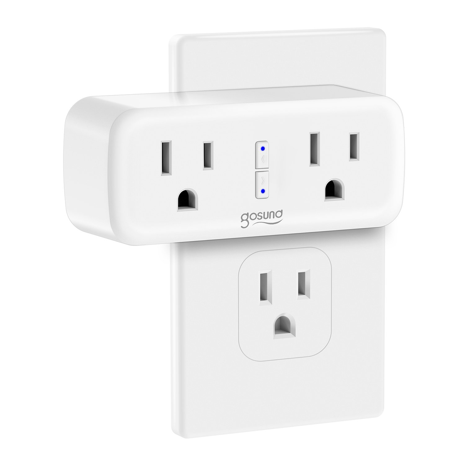 Smart Plug,2 in 1 Mini Gosund Wifi Smart Outlet,with Timer and Remote Control,Works with Alexa,Google Home,IFTTT,No Hub Required,ETL and FCC listed - Works individually or in Groups (wp2-2)