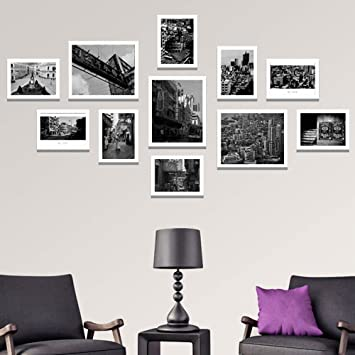 Wall Photo Frames Black And White Architectural Street Decoration Painting