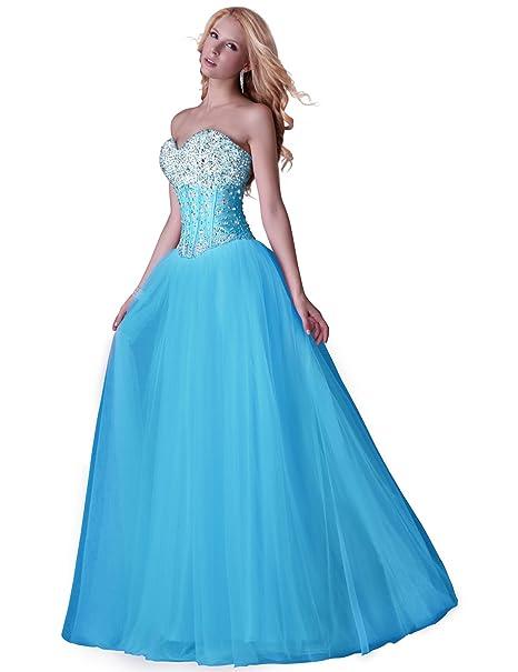 Yafex Gorgeous sin tirantes corset-style Tarde Fiesta Vestidos de novia (cl3519 (Multicolor