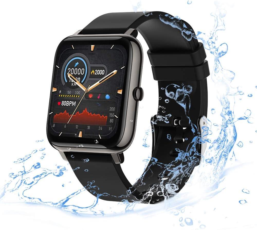 Smart Watch con Pantalla Táctil de 1,4 Pulgadas para Android iOS,eLinkSmart Smartwatch para Mujer Hombre,Reloj Inteligente de Fitness con Contador de Pasos y Resistente al Agua, Monitor de Sueño,