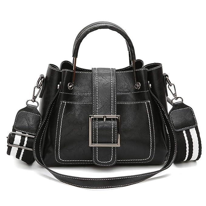Amazon.com: Wugeshangmao Bolsas de hombro para mujer, bolsa ...