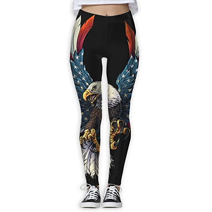 Women Eagle American Elastic Waist Pencil Yoga Pant Yoga ...