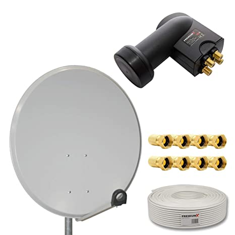 HD Digital Sat equipo 80 cm Acero Sat antena | Color a ...
