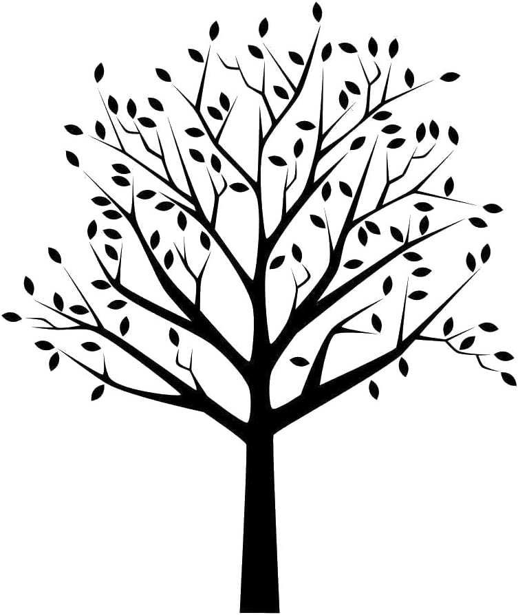 T63 PVC Reusable Stencil, A4 Size - 210 x 297 mm, 8.3 x 11.7 in Tree and Leaves Reusable Stencil A3 A4 A5 /& Bigger Sizes Shabby Chic