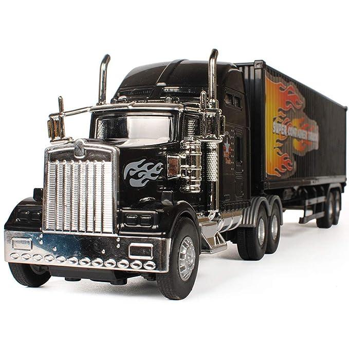 ... camión de Juguete de fricción para niños Un Empuje obligatorio (camión Negro) Suitble para Mayores de 3 años Niños y niñas Carro Americano para niños 3+ ...