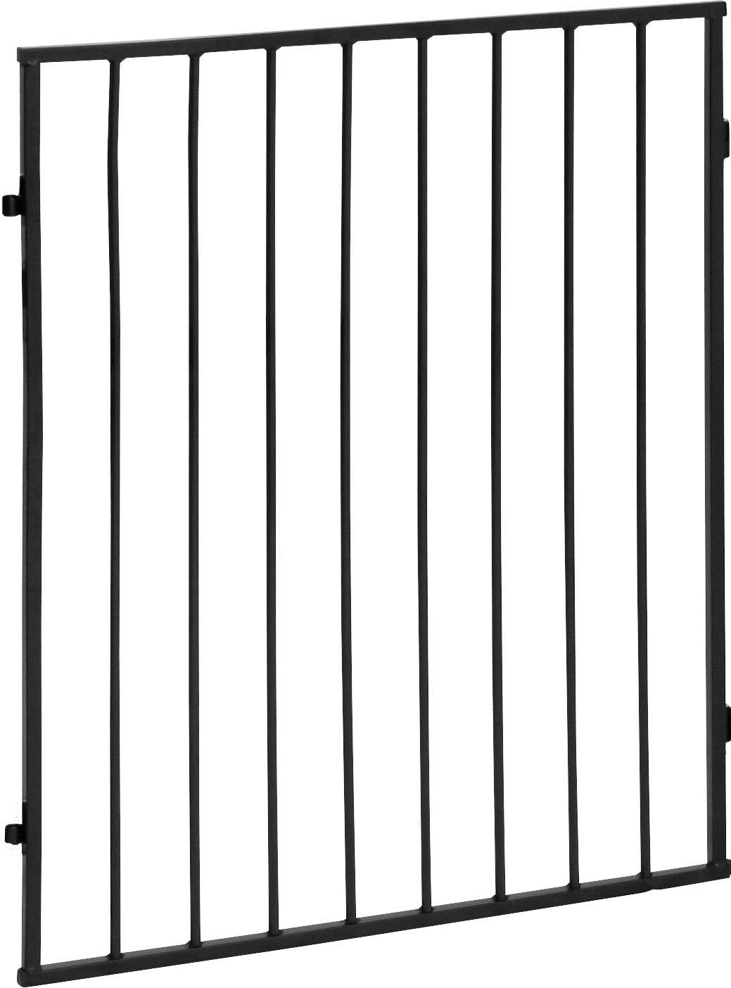 ib style® CATO | Kaminschutzgitter | erweiterbar | Doppelverschluss | 2x Einzelelement Schwarz IB-Style