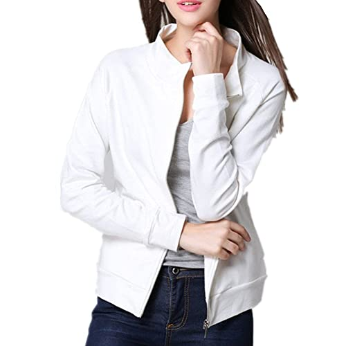 BOMOVO Chaqueta de manga larga de chaqueta de cremallera Suéter impreso de amor