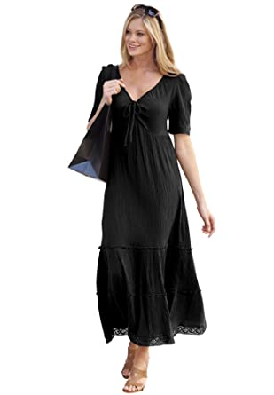 5f6d5a4c08a1d Ellos Women s Plus Size Gauze Maxi Dress at Amazon Women s Clothing ...