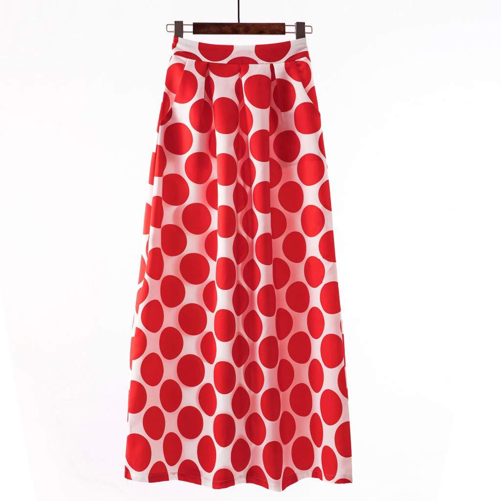 Kaister Jupe Longue Cocktail Party Summer Women Summer Dot Jupe Taille Haute imprim/ée
