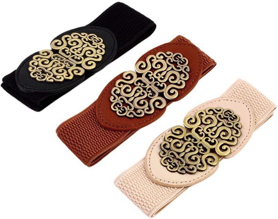 Cintura elastica da donna in stile retr/ò vintage con fiore Deisgn Greens