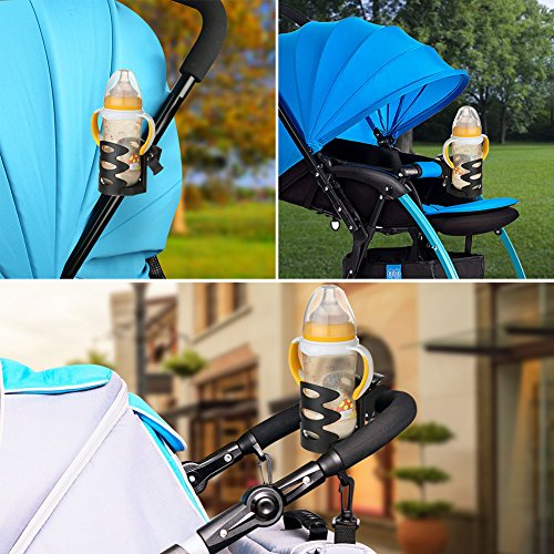 Universal Stroller Cup Holder by Accmor, Attachable Drink Holder for Baby Stroller, Pushchair Bicycle Strollers, Bike, Mountain Bike and Wheelchair (2Pack) by accmor (Image #3)