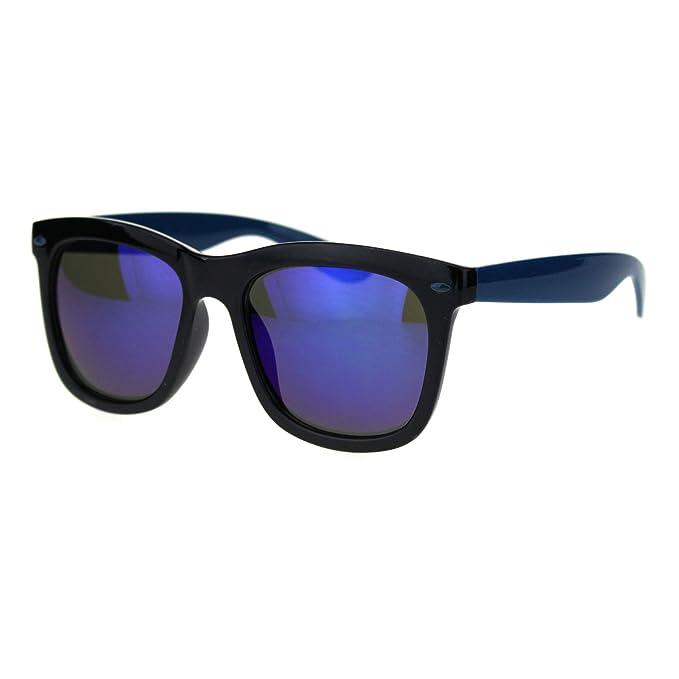 Amazon.com: Hipster Gafas de sol con espejo de 2 tonos de ...