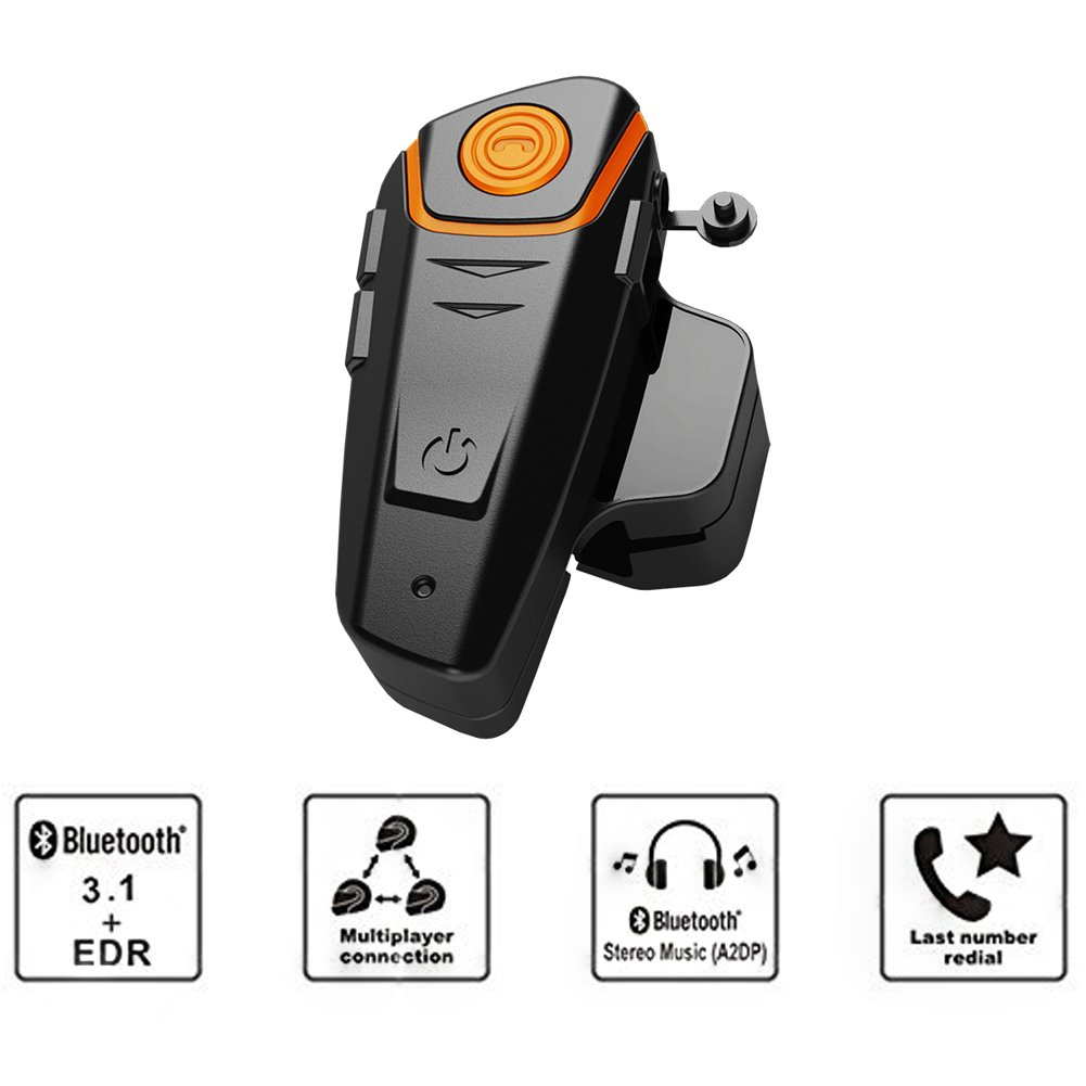 Amazon.com: Qinaurora BT-S2 1000m Bluetooth Headset Waterproof BT Motorcycle Motorbike Helmet Intercom Interphone Headset,Walkie Talkie GPS Hands Free MP3 ...