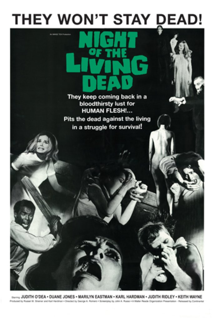 "Night of The Living Dead Movie Poster 24""x36"""