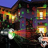 TOFU Proteove Christmas Laser Lights Projector - IP65 Waterproof with RF Wireless Remote, Red and Green Star Show for Christmas, Party, Landscape and Garden Decorations Red and Green