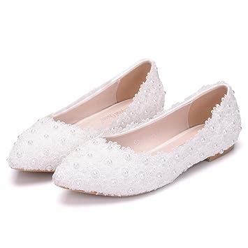 Qingchunhuangtang@ Spitzen Kleid Schuhe Schuhe Schuhe Braut Hochzeit Schuhe