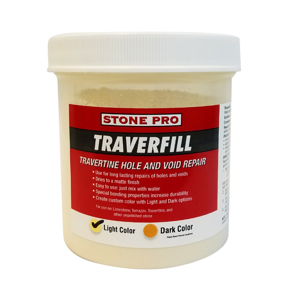 Stone Pro Traverfill - Travertine Hole and Void Repair - 1 Pound - Light CECOMINOD058255