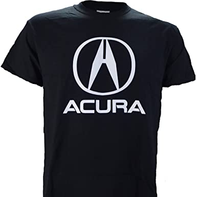 Amazoncom Acura Logo On A Black T Shirt Clothing - Acura shirt