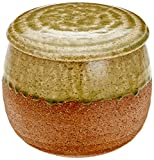 Comolife Japanese ceramics cooked rice saver container for 0.45 pounds , microwave usable , size : 4.5x5.1inches , Color : Double color