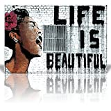 "Wall26 ""Life is Beautiful"", Thierry Guetta - Mr. Brainwash - Street Art/Guerilla - Banksy Inspired - Canvas Art Home Decor - 24x36 inches"