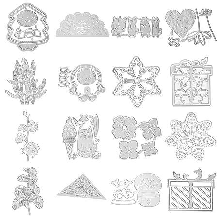 Demiawaking Fustelle per Scrapbooking Metallo Cutting Die DIY Scrapbooking Album Foto Segnalibro Goffratura Craft Stencil per Biglietti di Auguri