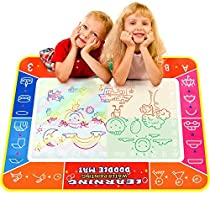Allnice (40 X 29 Big Water Doodle Mat Aqua Doodle Mat Colorful Magic Water Drawing Mat Pad Large Painting MatDoodle Scribble Boards with 3 Pen for Your Children