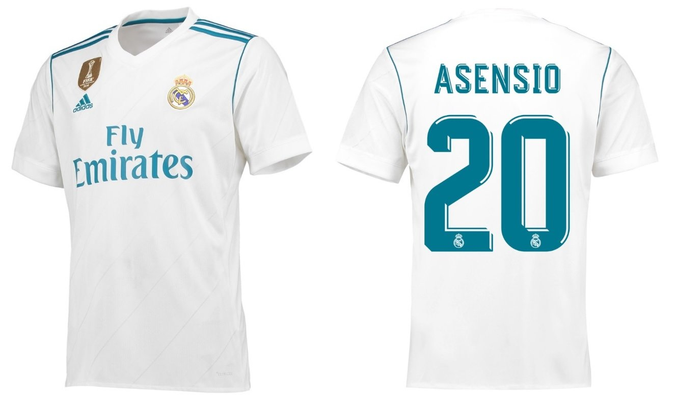 Trikot Kinder Real Madrid 2017-2018 Home WC - Asensio 20