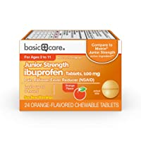 Basic Care Children's Ibuprofen Chewable Tablets, 100 mg, Pain Reliever and Fever...