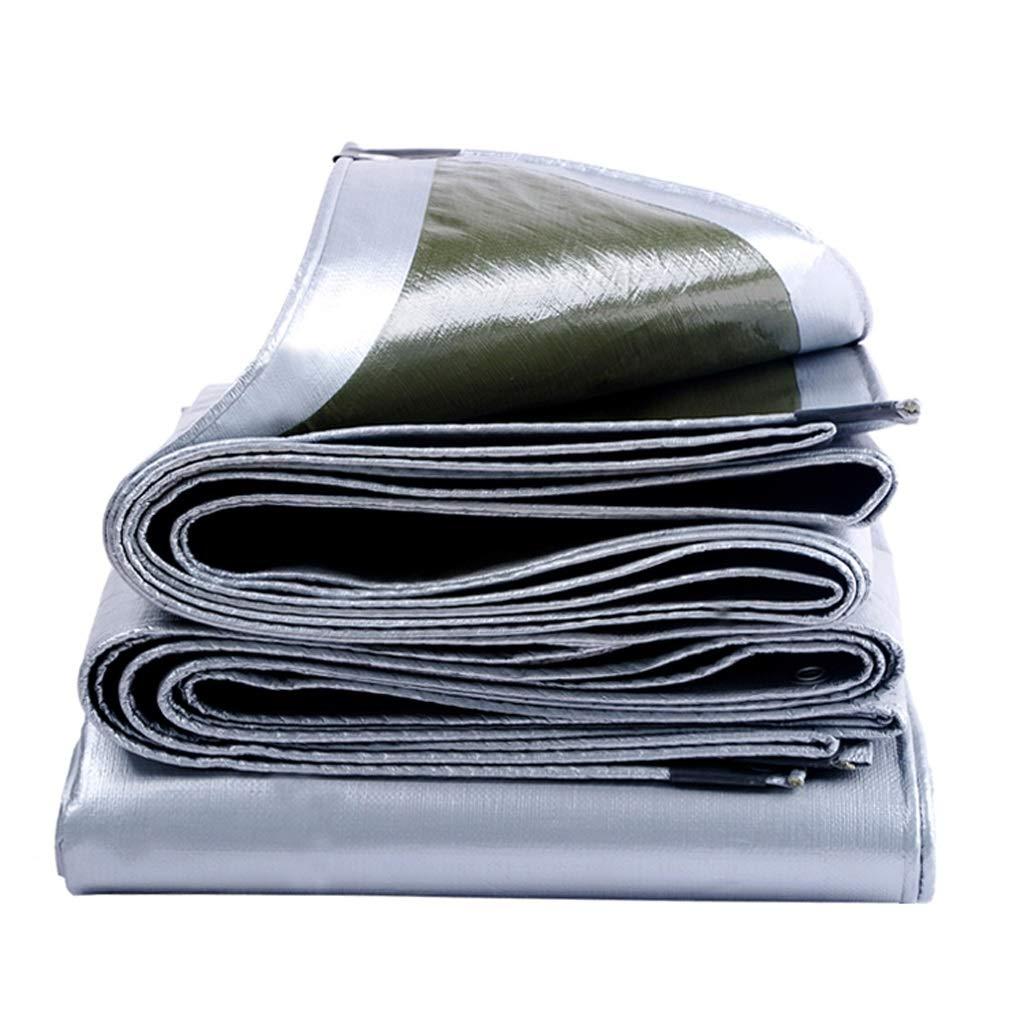 ターポリン、厚め防水日除け屋外、多機能複数サイズ、シルバー+アーミーグリーン (サイズ さいず : 3m*3m) 3m*3m  B07J6QTGCF