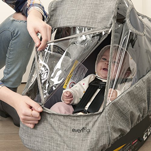 Evenflo Infant Car Seat Weather Shield and Rain Cover, Grey Melange by Evenflo (Image #1)