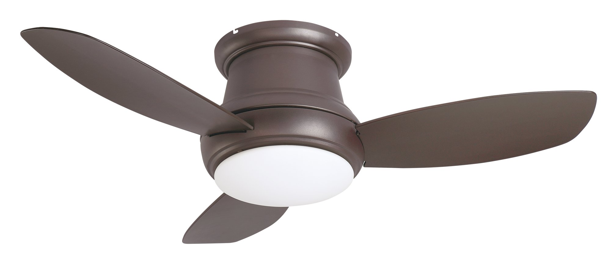 Cloudy Bay Oil Rubbed Bronze Flush Mount 44'' Ceiling Fan with LED Light & Remote Control by Cloudy Bay