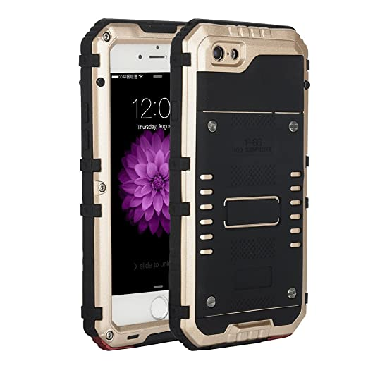 19 opinioni per I3C Cover iPhone 6/6s Plus Antiurto Resistenti Alluminio Gorilla Glass Case