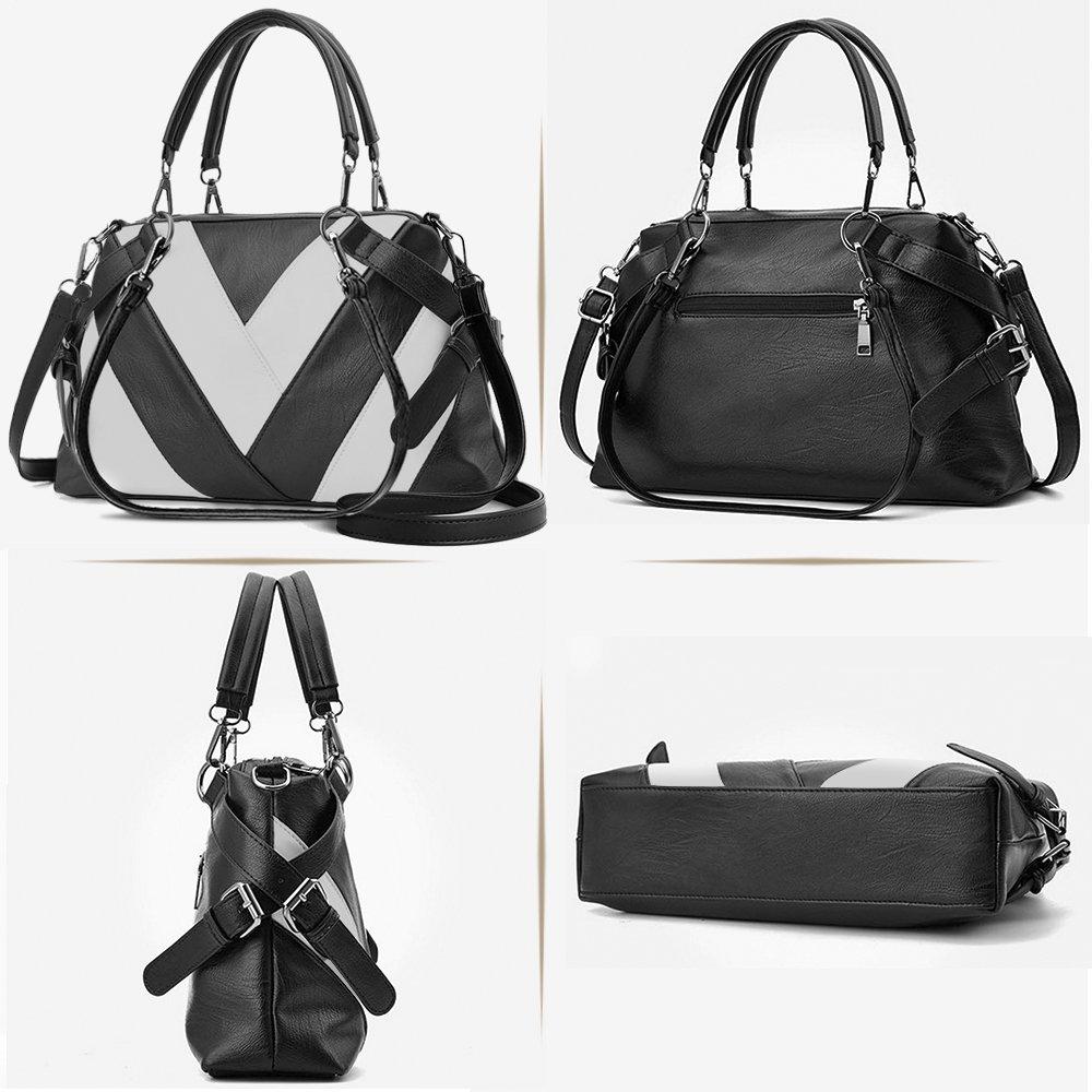 7aa3bf7bc8b7f BestoU Bolsos Mujer grandes Bolsos de hombro Shopper bolso tote PU Piel  negro(Negro)  Amazon.es  Equipaje