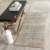 Safavieh Valencia Collection VAL123C Grey and Multi Vintage Distressed Silky Polyester Runner Rug (23 x 8)