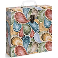 Tunes-Tote Paisley Parts Storage & Carry Record Case for LPs, Albums, 33-1/3 & 78 RPM (3306)