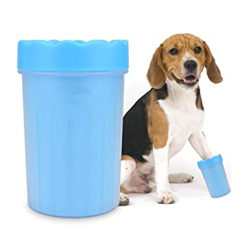 Dremam Homes® - Limpiador de huellas de perro de silicona, limpiador de pies para