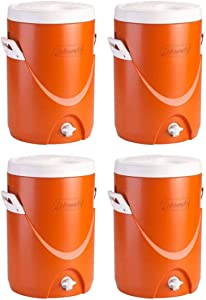 Coleman 5-Gallon Team Cooler (Orange/Set of 4)