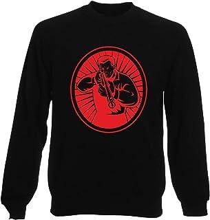 T-Shirtshock Sweatshirt Ras du Cou por Homme Noir FUN3312 Rifle Shooter and Oval