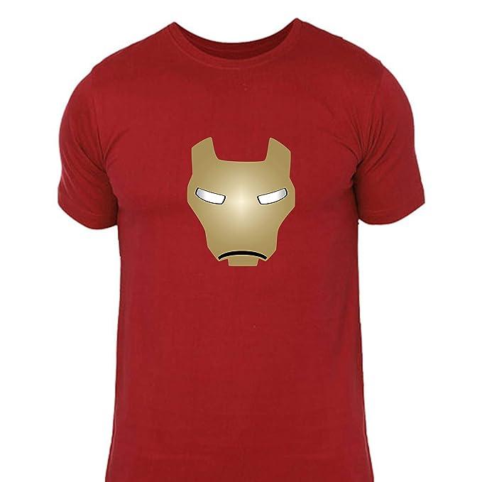 e66e6153 lazyduke   Tshirt for Men  Ironman Iron Man Helmet Design Marvels Design on  red