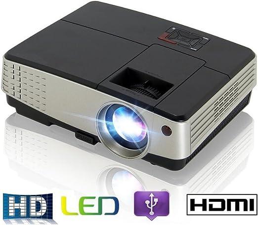 MTTLS Proyectores 2600Lumens Portátil Mini Proyector De Video 3D ...