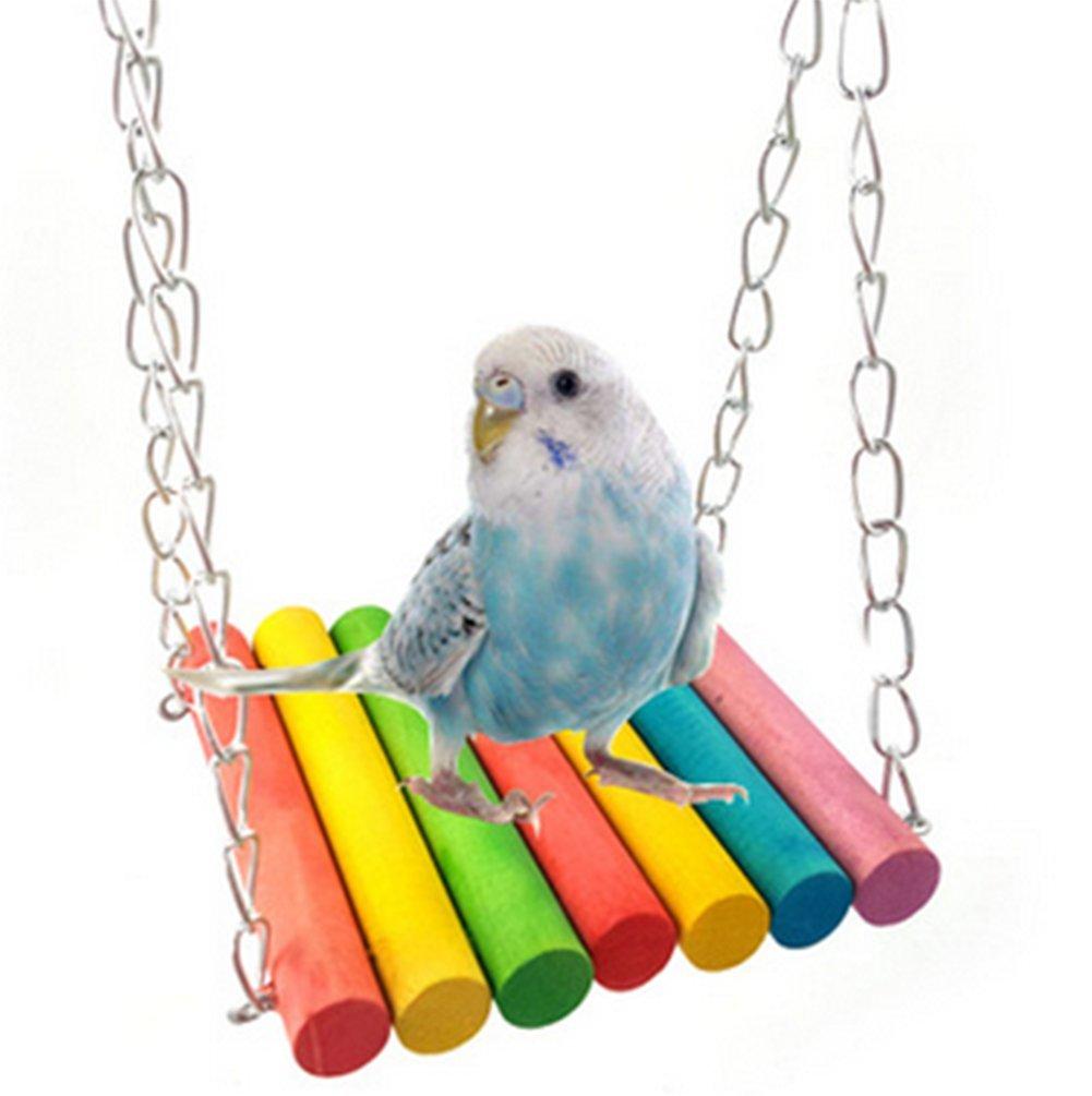 Toruiwa Balançoire Perroquet Perchoir D'oiseaux Accessoire pour Cage D'oiseaux pour Perruches Perroquets